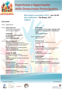 Esperienze e Opportunità - Evento Democrazia Partecipativa 4 novembre 2015